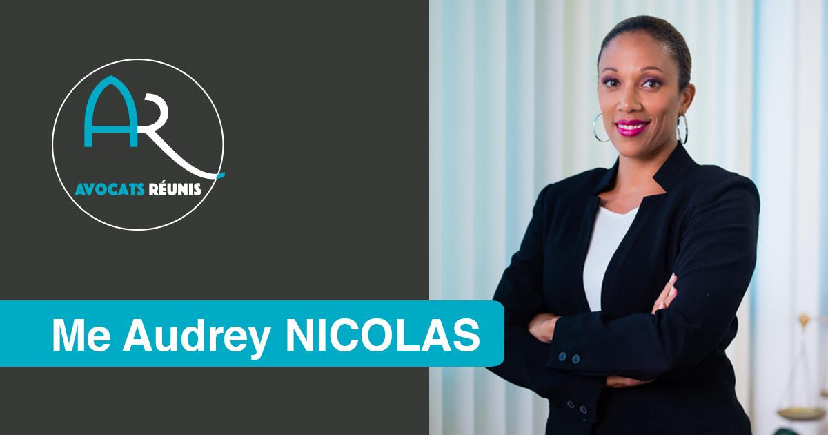 Me Audrey NICOLAS, avocate au barreau de Paris