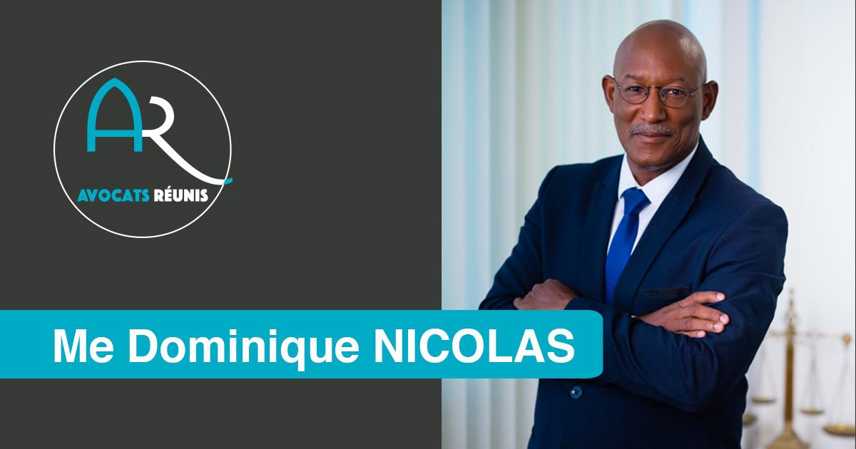 Bâtonnier Dominique NICOLAS Avocat de Martinique